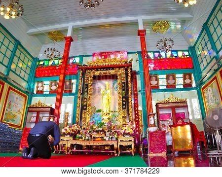 Kuan Yim Shrine (thian Fa Foundation) Bangkok Thailand.bangkok Thailand-15 July 2019:guan Yin Shrine