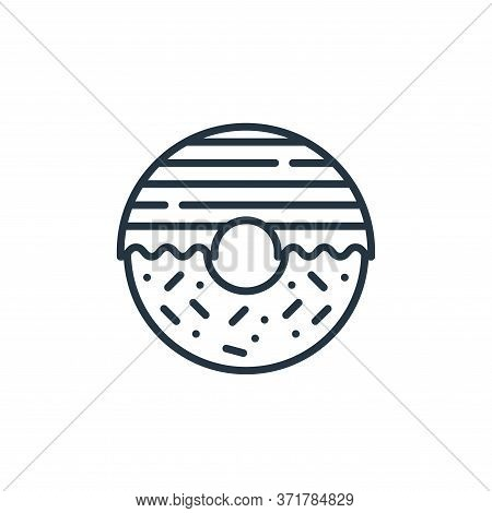 donut icon isolated on white background from  collection. donut icon trendy and modern donut symbol