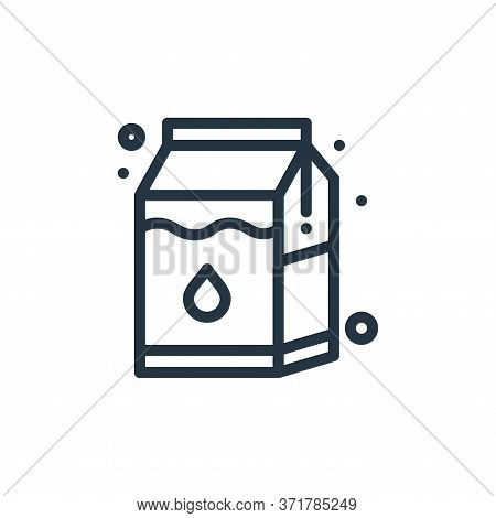 milk box icon isolated on white background from  collection. milk box icon trendy and modern milk bo