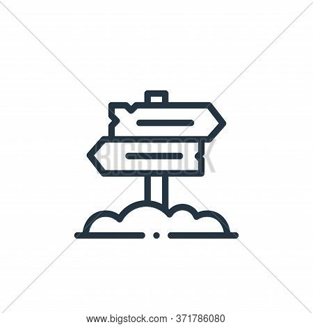 directional sign icon isolated on white background from  collection. directional sign icon trendy an