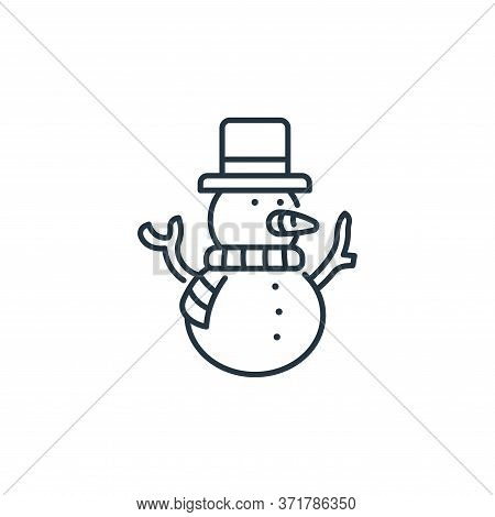 snowman icon isolated on white background from  collection. snowman icon trendy and modern snowman s