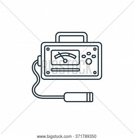 Geiger Counter Vector Icon Isolated On White Background.