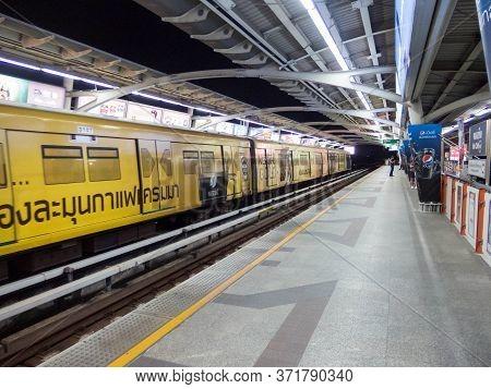Mo Chit Bts Station Bangkok,thailand-16 October 2018: Bts Skytrain Mo Chit Station On,16 October 201