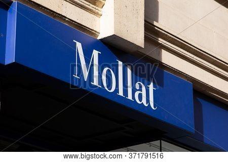 Bordeaux , Aquitaine / France - 02 20 2020 : Librairie Mollat Bordeaux The Largest Independent Frenc