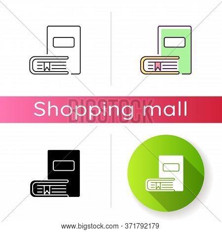 Bookstore Icon. Educational Publication. Bookshop Products. Literature Reading. Books Online Shop Ca
