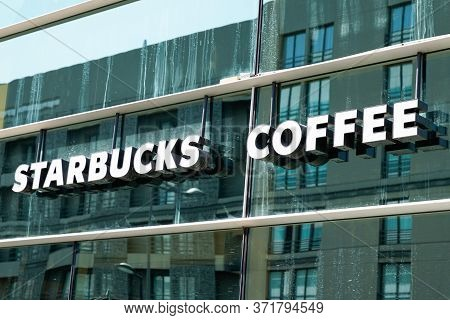 Bordeaux , Aquitaine / France - 09 18 2019 : Starbucks Coffeehouse Corporation American Coffee Compa