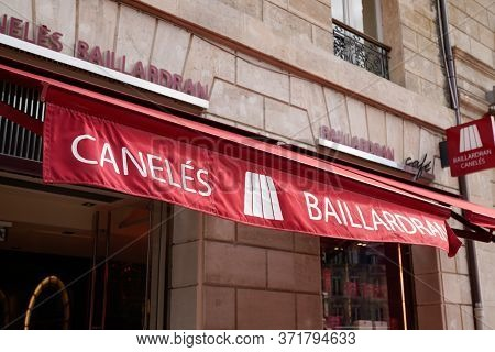 Bordeaux , Aquitaine / France - 10 17 2019 : Canele French Pastry Baillardran Company Traditional Ca