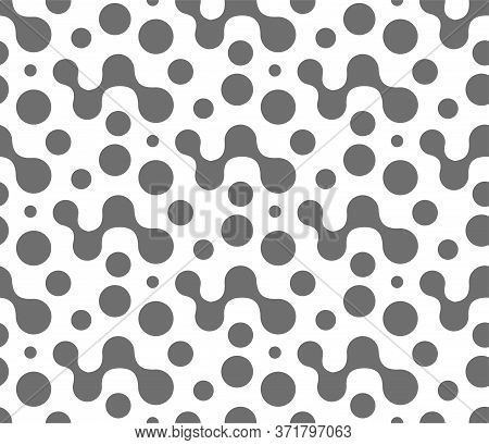 Continuous Abstract Vector Circle Pattern Texture. Repeat Simple Graphic Flow Array Pattern. Seamles
