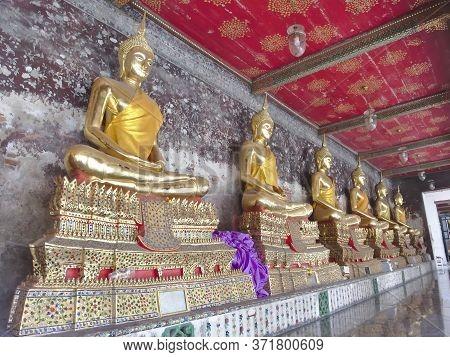 Bangkok Thailand.bangkok Thailand-17 July 2019:wat Suthat Thepwararam Is A Buddhist Temple In Bangko