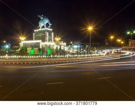 King Rama King Rama I Monument Buriram,thailand - 20 November 2018:located In Amphoe Mueang Buri Ram