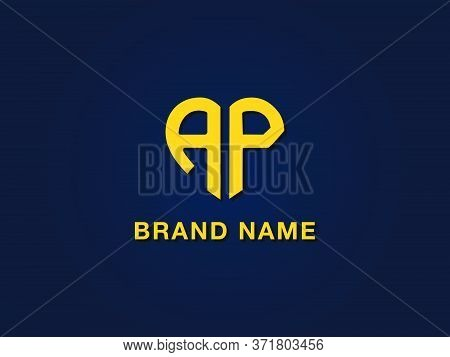 Minimal Love Initial Letter Ap Logo. It Will Be Suitable For Which Company Or Brand Name Start Those