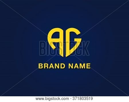 Minimal Love Initial Letter Ag Logo. It Will Be Suitable For Which Company Or Brand Name Start Those