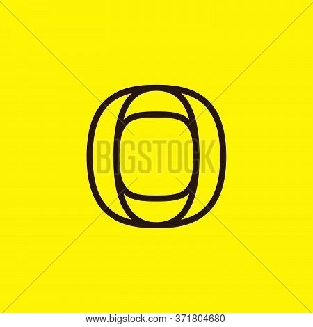 Initial O Modern Line Monogram And Elegant Logo Design. Vector Letter Can Be Used For Taxi Labels, T