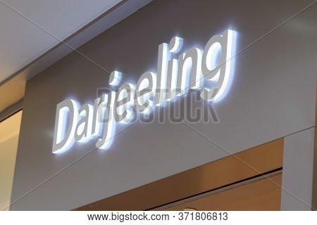 Bordeaux , Aquitaine / France - 09 27 2019 : Sign Shop Darjeeling Lingerie Collection Store