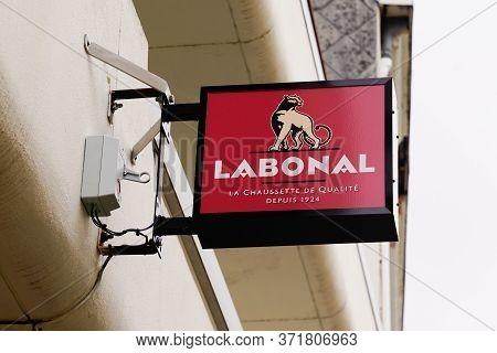 Bordeaux , Aquitaine / France - 03 07 2020 : Labonal Sign Logo Shop Means La Bonneterie Alsacienne I