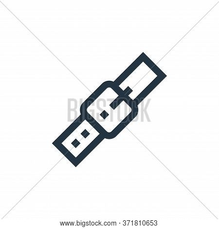 belt icon isolated on white background from  collection. belt icon trendy and modern belt symbol for