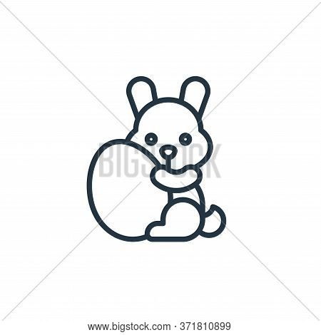 easter bunny icon isolated on white background from  collection. easter bunny icon trendy and modern