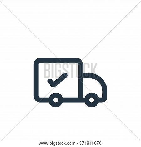 delivery icon isolated on white background from  collection. delivery icon trendy and modern deliver