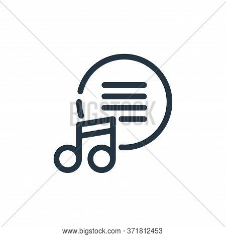 music icon isolated on white background from  collection. music icon trendy and modern music symbol
