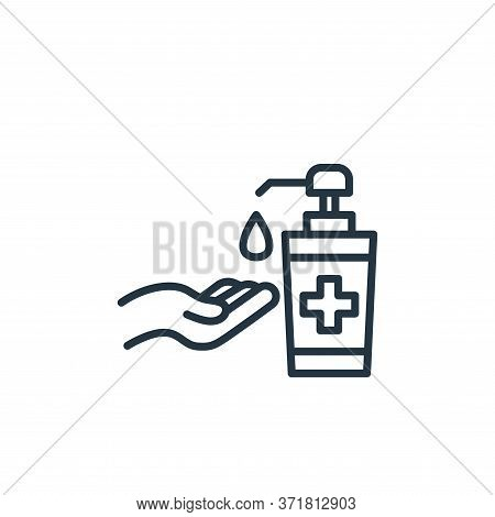 hand sanitizer icon isolated on white background from  collection. hand sanitizer icon trendy and mo
