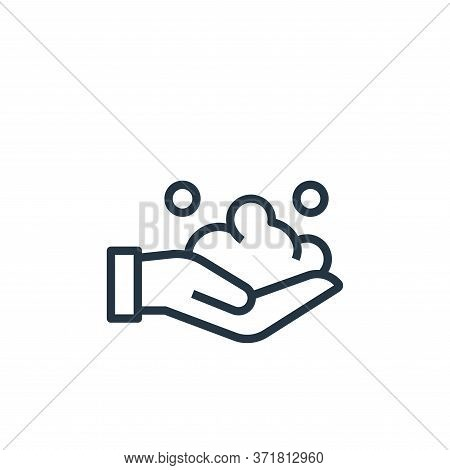 washing hand icon isolated on white background from  collection. washing hand icon trendy and modern