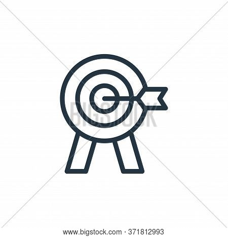 target icon isolated on white background from  collection. target icon trendy and modern target symb