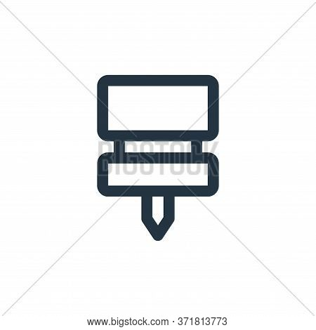 push pin icon isolated on white background from  collection. push pin icon trendy and modern push pi