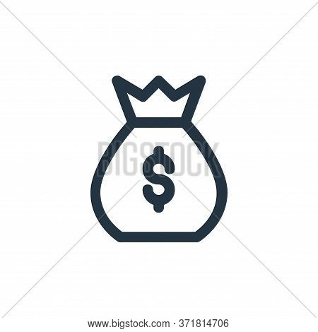 money bag icon isolated on white background from  collection. money bag icon trendy and modern money