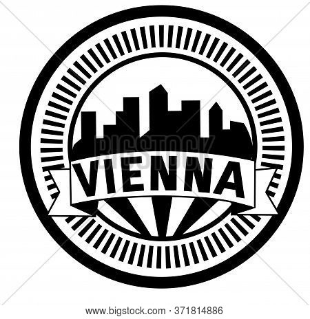 Vienna Stamp On White Background. Stickers And Stamps Series.