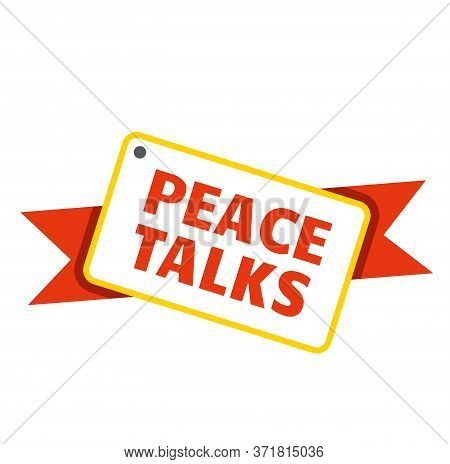 Peace Talks Stamp On White Background. Stickers And Stamps Series.
