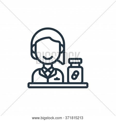 Pharmacist icon isolated on white background from  collection. Pharmacist icon trendy and modern Pha