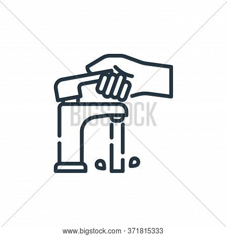 Faucet Vector Icon Isolated On White Background.