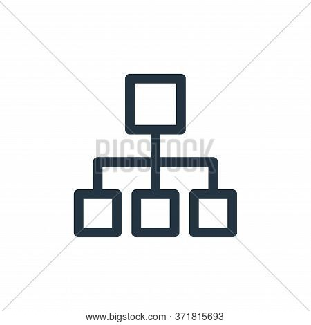 hierarchical structure icon isolated on white background from  collection. hierarchical structure ic