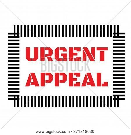 Urgent Appeal Sign On White Background. Sticker, Stamp