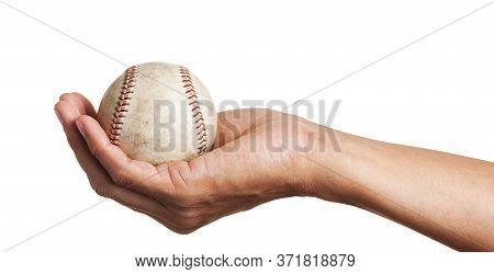 Baseball In Man's Hand