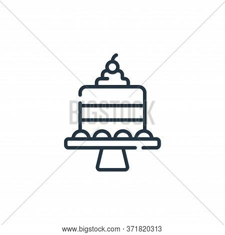 cake icon isolated on white background from  collection. cake icon trendy and modern cake symbol for