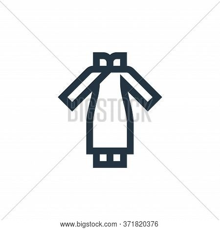 chinese dress icon isolated on white background from  collection. chinese dress icon trendy and mode