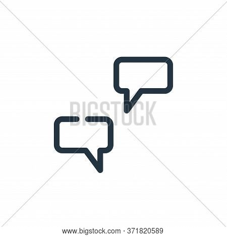 chat icon isolated on white background from  collection. chat icon trendy and modern chat symbol for