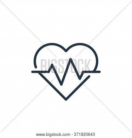 heartbeat icon isolated on white background from  collection. heartbeat icon trendy and modern heart