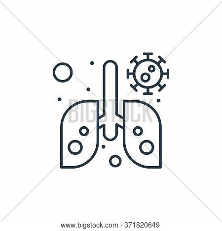infected lungs icon isolated on white background from  collection. infected lungs icon trendy and mo