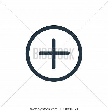 plus icon isolated on white background from  collection. plus icon trendy and modern plus symbol for