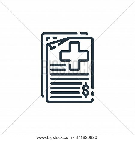 bill icon isolated on white background from  collection. bill icon trendy and modern bill symbol for