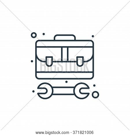 toolbox icon isolated on white background from  collection. toolbox icon trendy and modern toolbox s