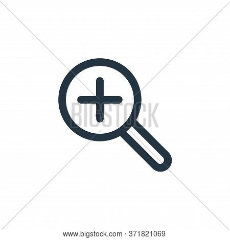 zoom in icon isolated on white background from  collection. zoom in icon trendy and modern zoom in s
