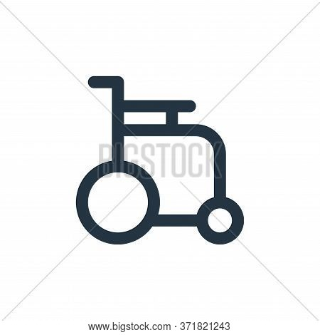 wheel chair icon isolated on white background from  collection. wheel chair icon trendy and modern w