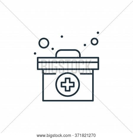 medical box icon isolated on white background from  collection. medical box icon trendy and modern m