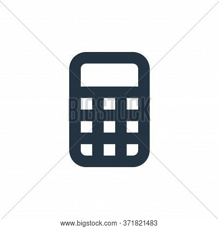 calculator icon isolated on white background from  collection. calculator icon trendy and modern cal