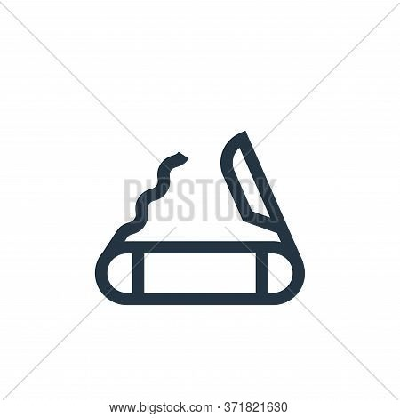 swiss army knife icon isolated on white background from  collection. swiss army knife icon trendy an