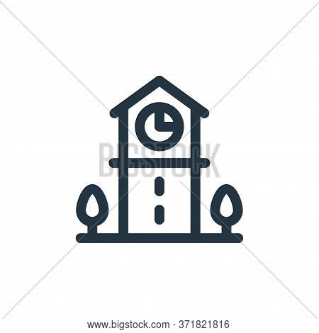 clock tower icon isolated on white background from  collection. clock tower icon trendy and modern c