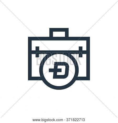 briefcase icon isolated on white background from  collection. briefcase icon trendy and modern brief